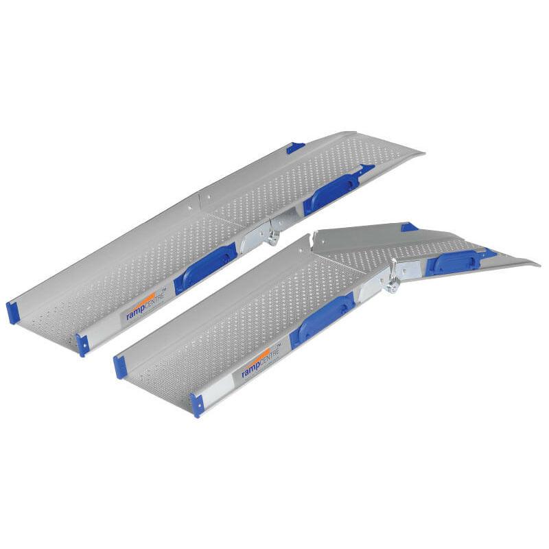 Ultralight-Folding Threshold Wheelchair Ramps (Pair of Ramps)